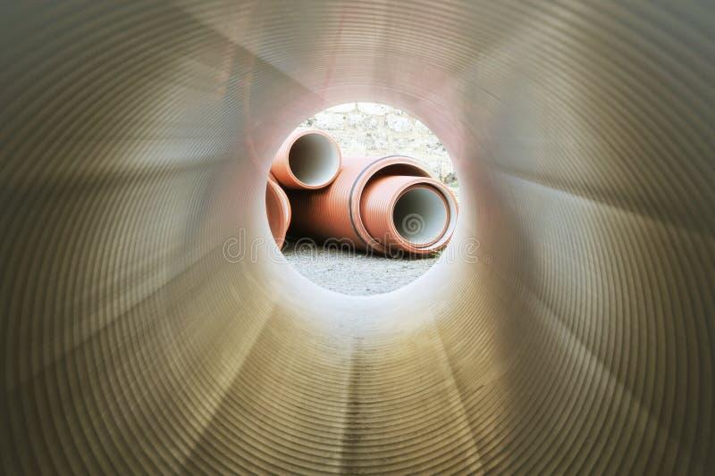 tube intérieur de tuyauterie photos stock