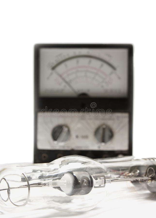 Download Tube Lamp And Voltage Meter Stock Photo - Image of conductor, inspiration: 15965406
