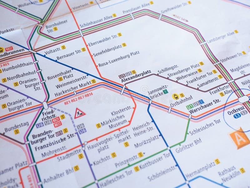 Tube Map Of Berlin Underground Aka Ubahn Editorial Photo Image - Germany underground map
