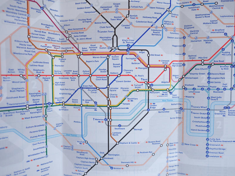 london uk january 10 2015 tube map of the london underground subway lines