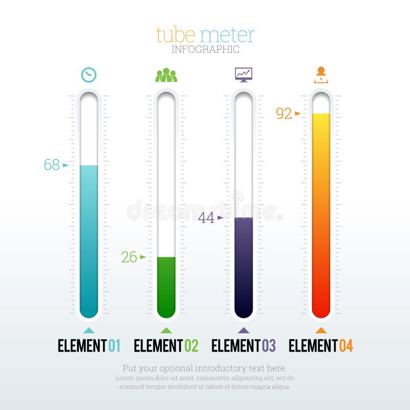 Tube Meter Infographic vector illustration
