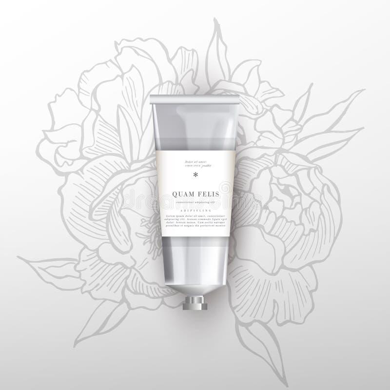 Tube réaliste vide pour des cosmétiques, crème, onguent illustration libre de droits
