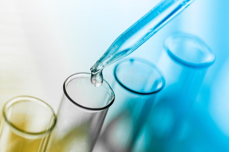 Tube. Test medical biotech background research chemistry royalty free stock photography