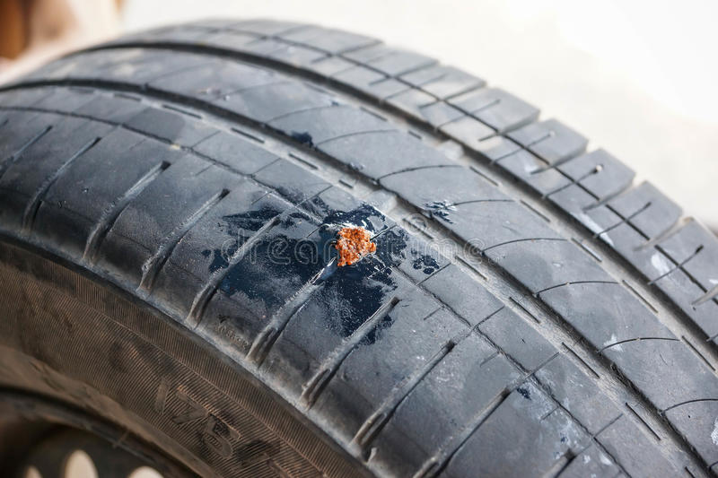 Tubeless Tire Puncture Repair Kit. For Car and Bike royalty free stock photography