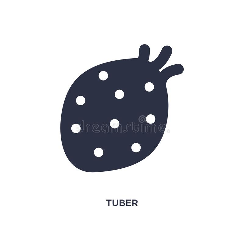 tuber icon on white background. Simple element illustration from fruits and vegetables concept royalty free illustration