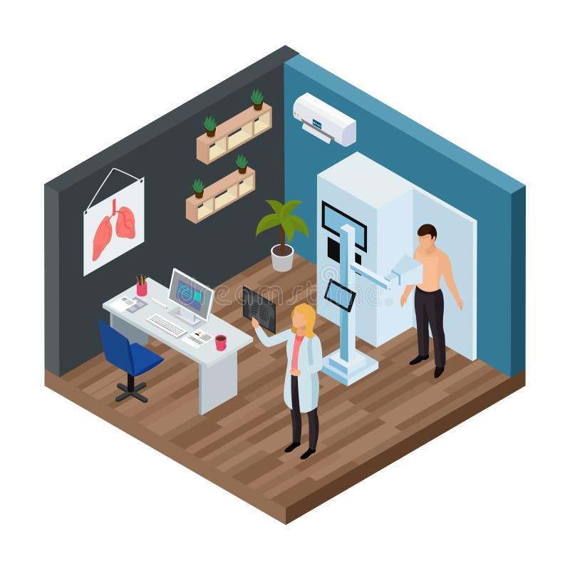 Tuberculosis Prevention Isometric Concept stock illustration