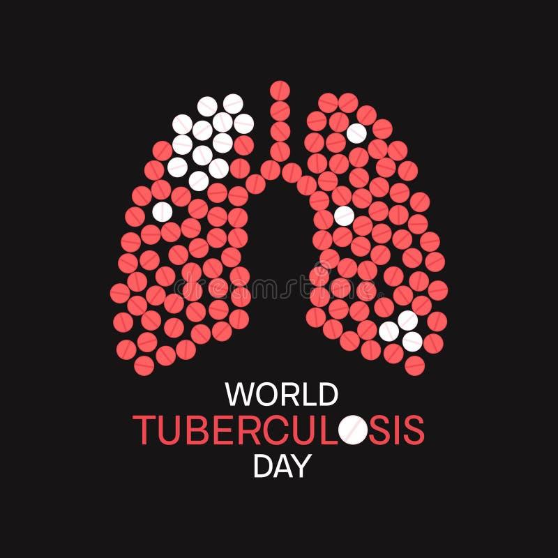 Tuberkulosebewusstseinsplakat stock abbildung