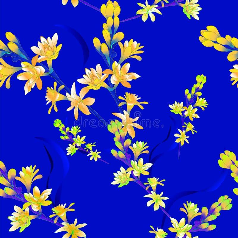 Tuberose - ramos Vetor Teste padrão sem emenda plantas medicinais, da perfumaria e do cosmético wallpaper Use materiais impressos ilustração do vetor