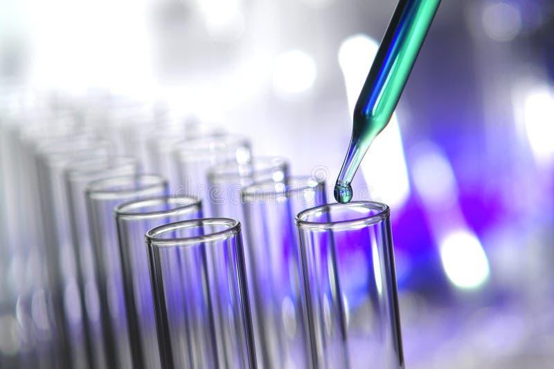 Tubes à essai dans le laboratoire de recherches de la Science photos stock