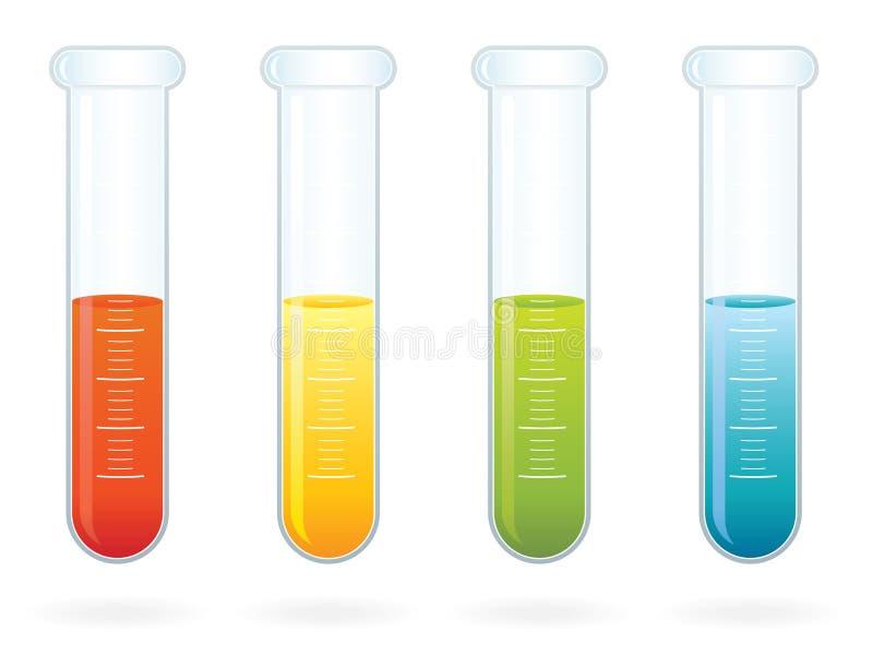 Tubes à essai de la Science ENV illustration de vecteur
