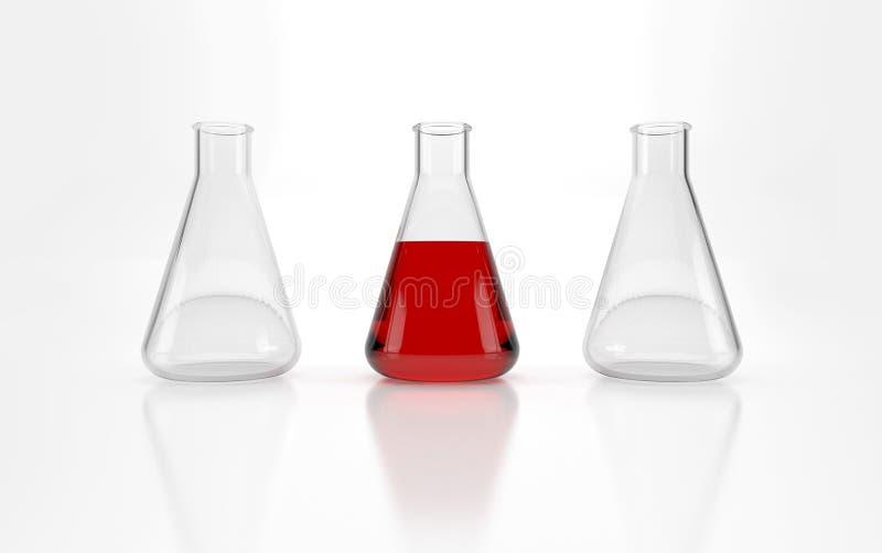 Tubes à essai en verre photos stock