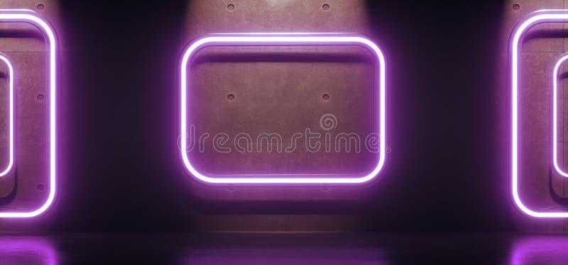 Tubes abstraits de rectangles de lampe au néon illustration stock