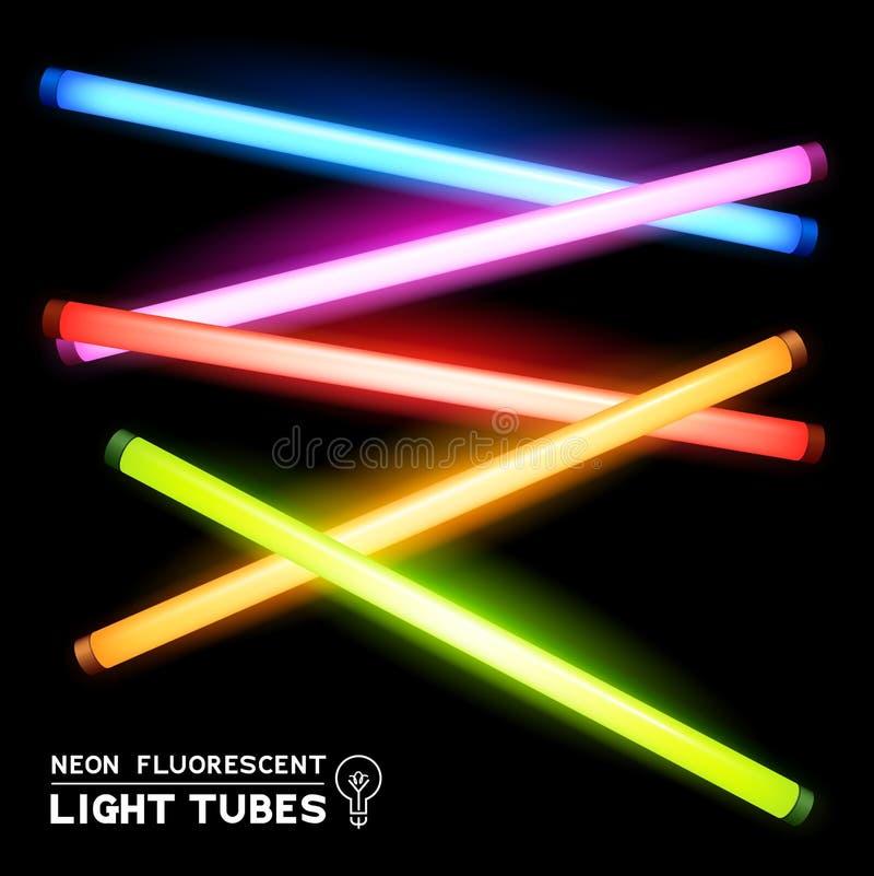 Tubes au néon de lumière fluorescente illustration libre de droits