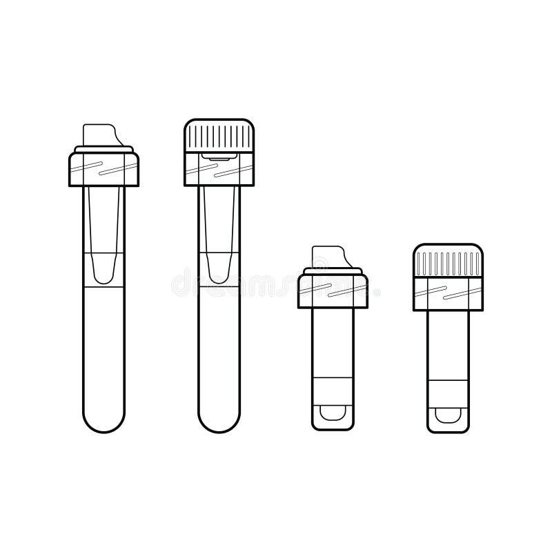 tubes capillaires de collection de sang illustration de vecteur