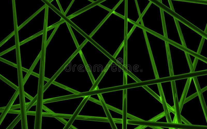 Tubes croisés de lueur image stock