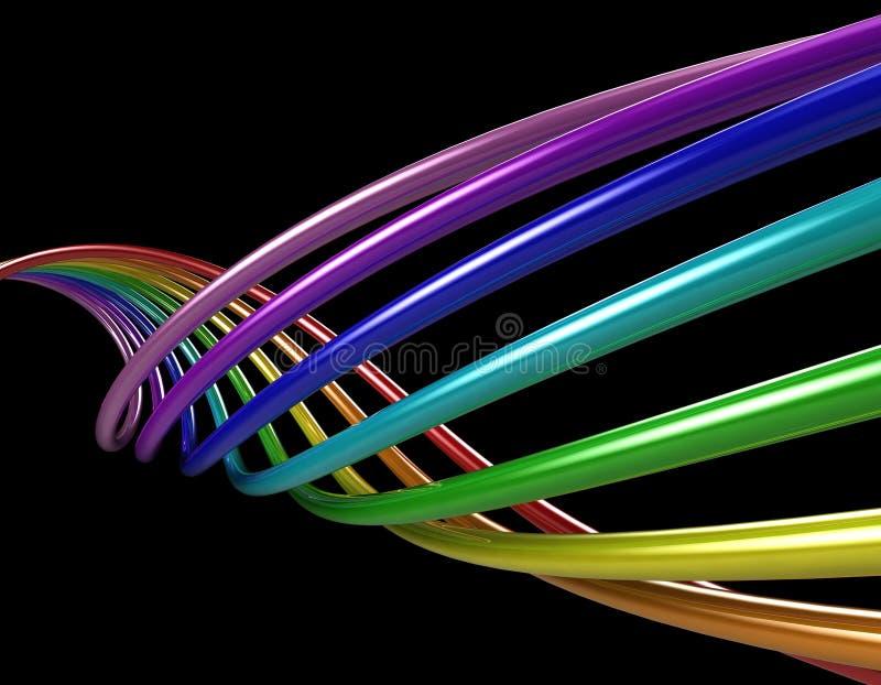 tubes d'arc-en-ciel illustration stock