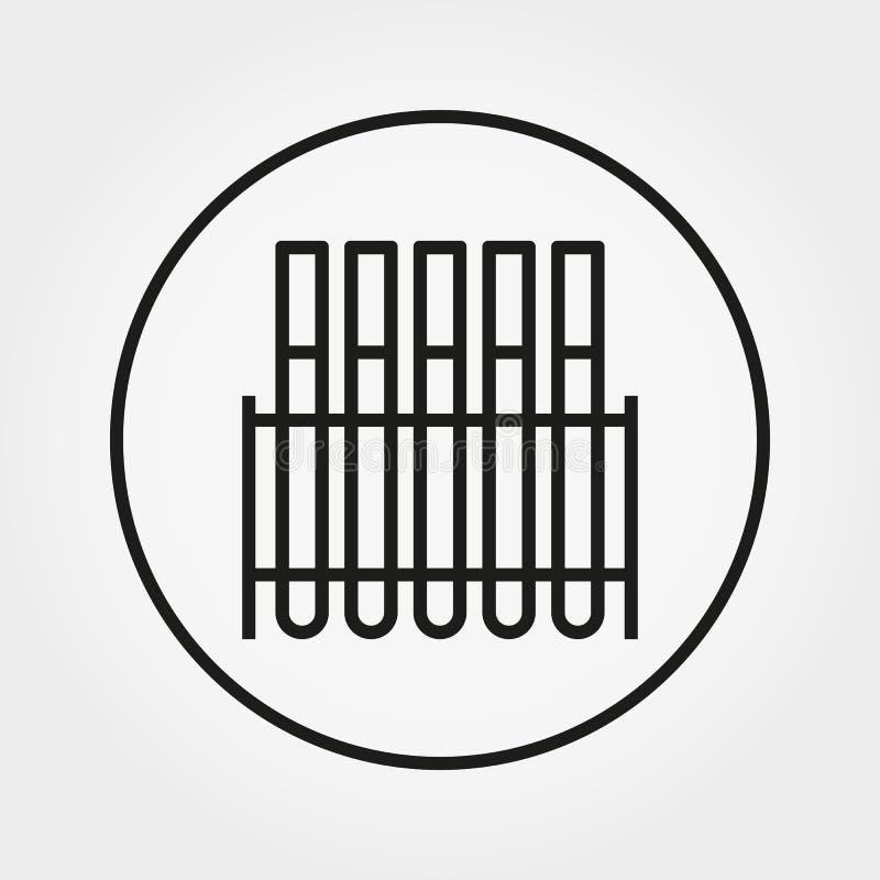 Tubes d'essai en laboratoire Icône universelle Vecteur Ligne mince Editable illustration de vecteur