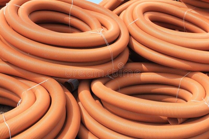 Tubes de PVC photographie stock libre de droits