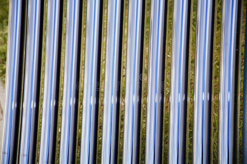 Tubes of a solar heating system as a background royalty free stock image