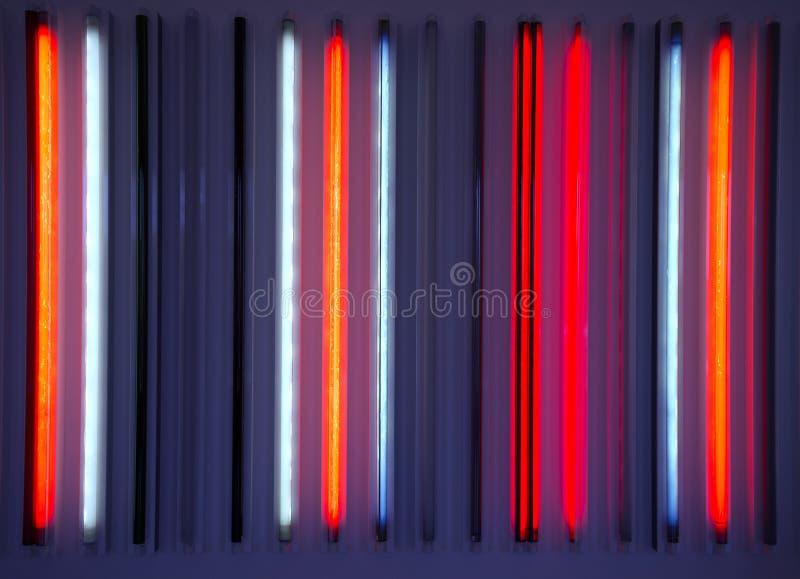 Tubi al neon fotografia stock