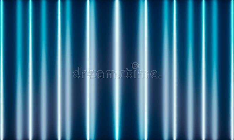 Tubi al neon con luce meravigliosa illustrazione di stock