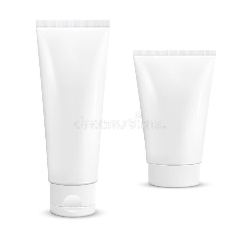 Tubi crema. illustrazione di stock