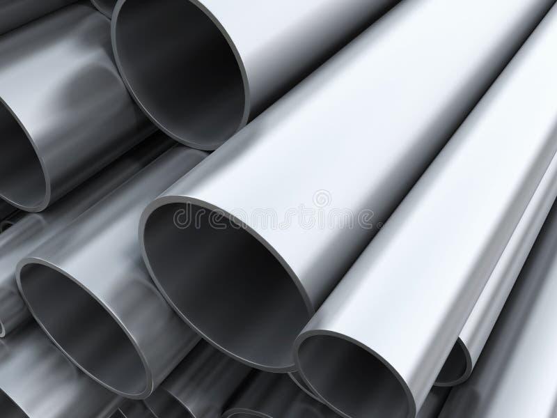 Tubi d'acciaio fotografia stock libera da diritti