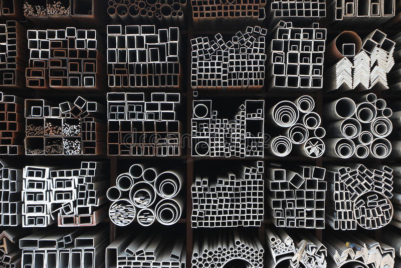 Tubi d'acciaio fotografia stock
