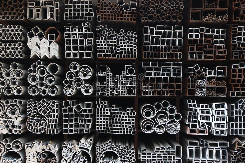Tubi d'acciaio fotografie stock