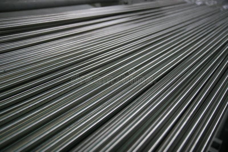 Tubi d'acciaio brillanti immagini stock