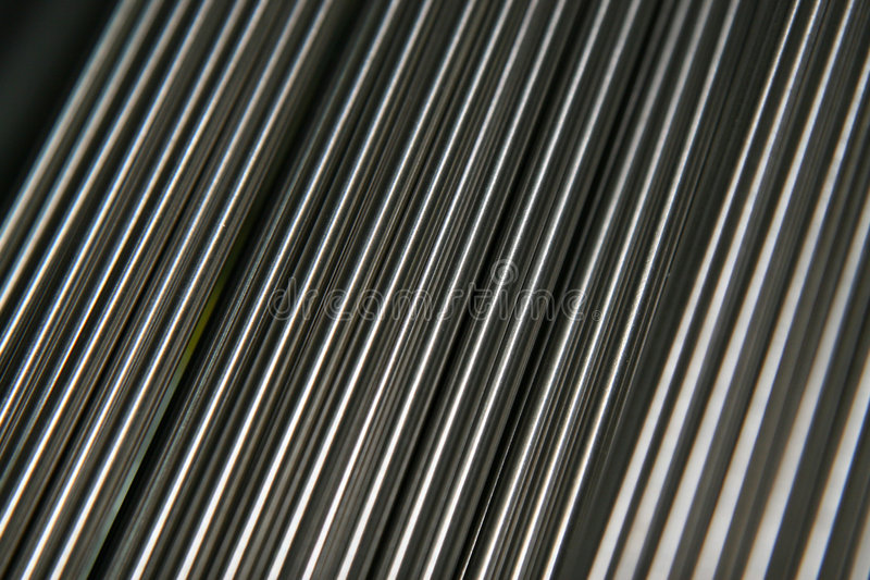 Tubi d'acciaio brillanti fotografia stock