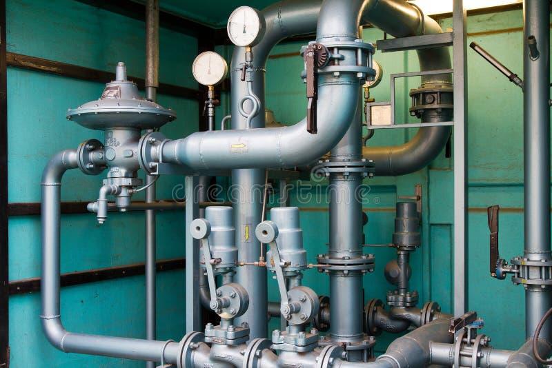 Tubi del gas naturale fotografia stock