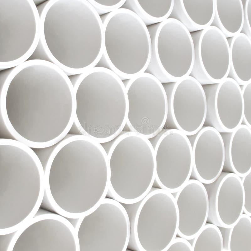 Tubi del PVC fotografie stock
