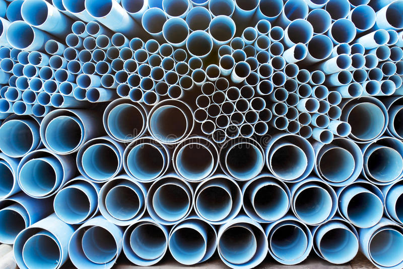 Tubi del PVC fotografia stock