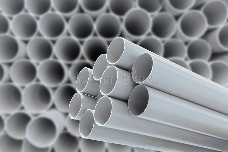 Tubi del PVC per acqua potabile fotografie stock