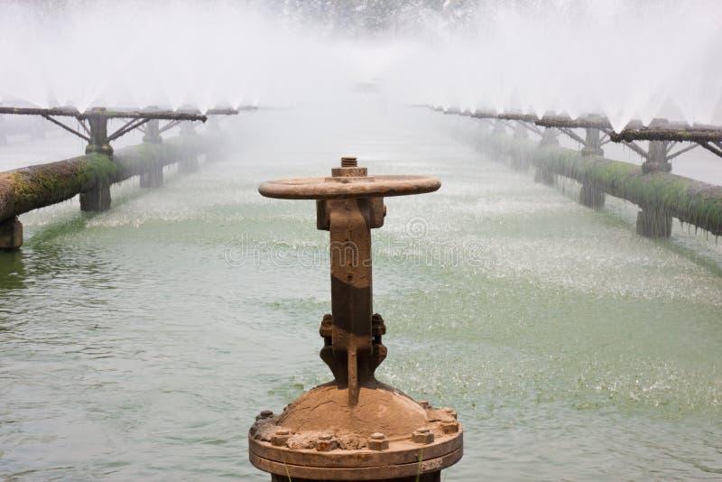 Tubi del sistema di trattamento di acque luride fotografie stock libere da diritti