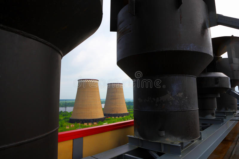 Tubi della centrale elettrica L'affare industriale fotografia stock