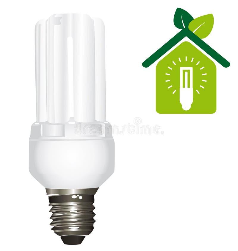 Tubi della lampadina di Eco illustrazione vettoriale