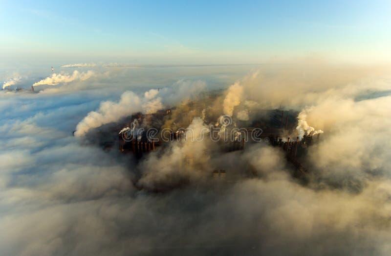 Tubi della pianta nella città di Mariupol l'ucraina immagini stock libere da diritti