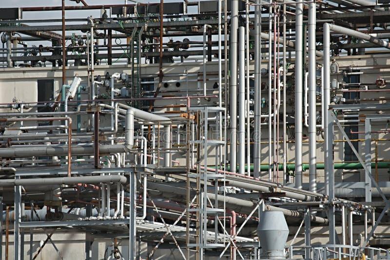 Tubi dello stabilimento chimico fotografia stock