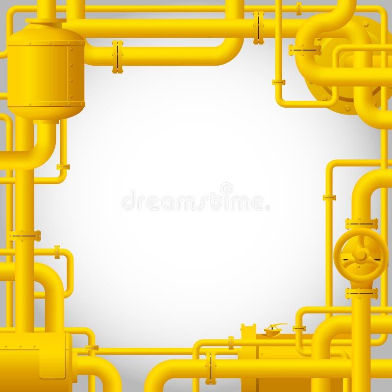 Tubi di gas gialli illustrazione vettoriale