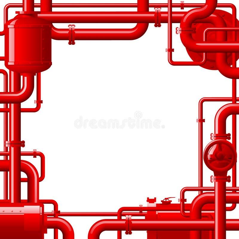 Tubi di gas rossi royalty illustrazione gratis