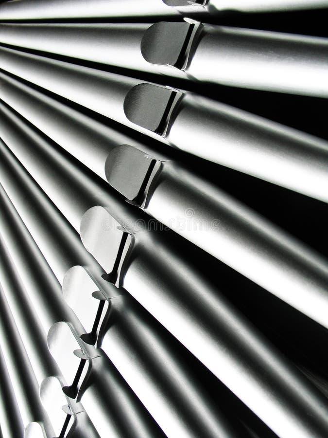 Tubi di organo - primo piano fotografia stock libera da diritti