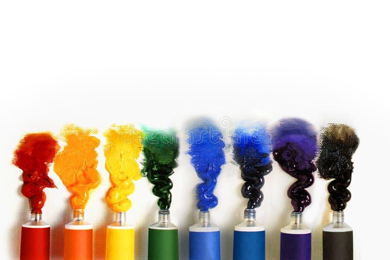 Tubi di vernice immagini stock