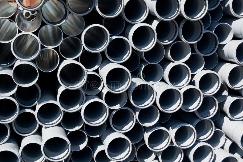 Tubi impilati del PVC fotografia stock