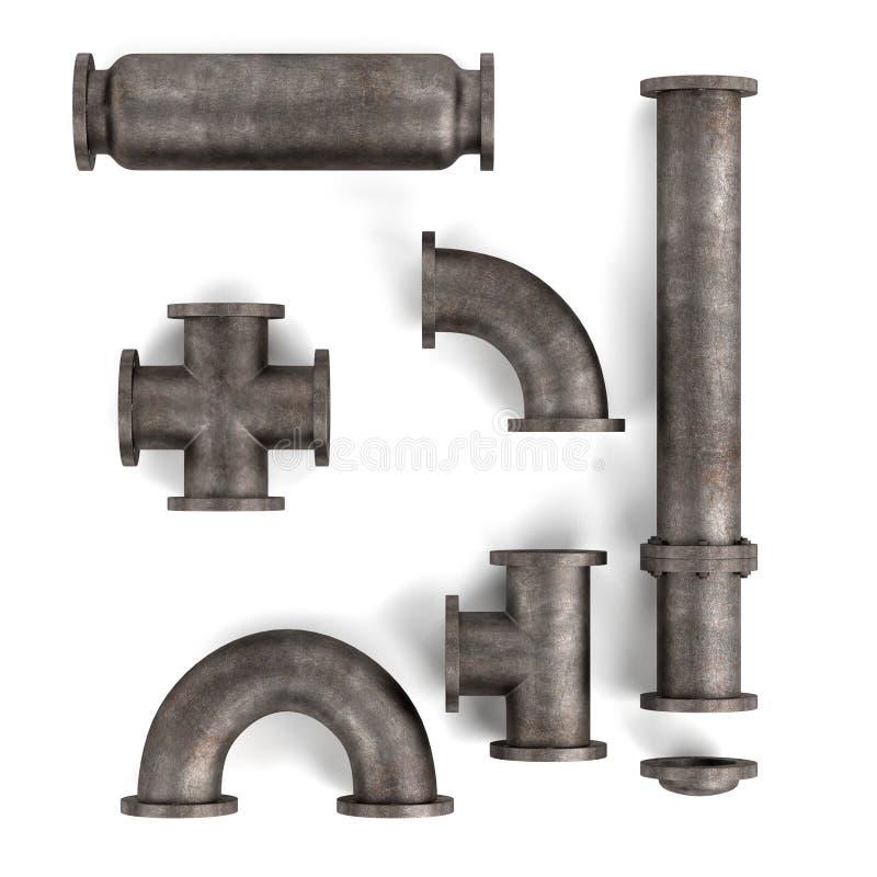 Tubi industriali illustrazione di stock