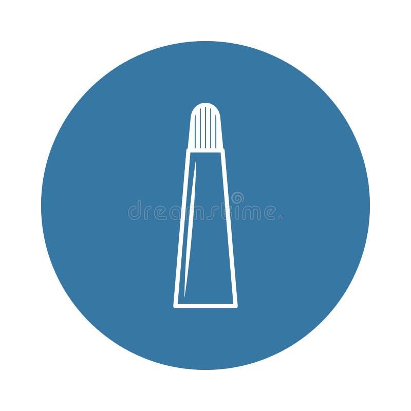 Tubka kremowa ikona Element butelek ikony dla mobilnych pojęcia i sieci apps Odznaka styl tubka kremowa ikona może używać dla nas ilustracja wektor