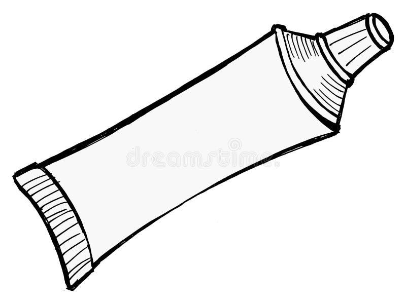 Download Tubka pasta do zębów ilustracja wektor. Ilustracja złożonej z szablon - 28956530