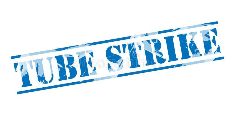 Tubki błękita strajkowy znaczek royalty ilustracja
