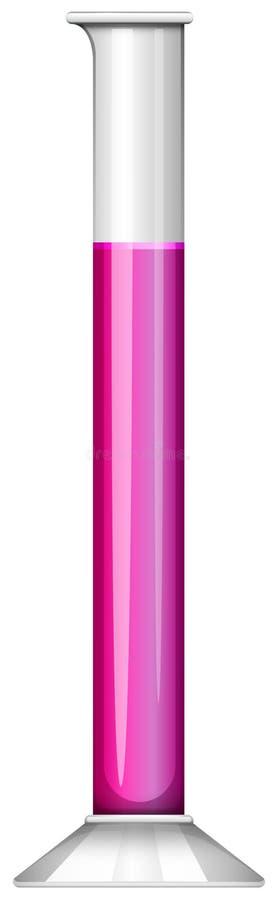 Tubki zlewka zawiera purpurowego ciecz ilustracja wektor